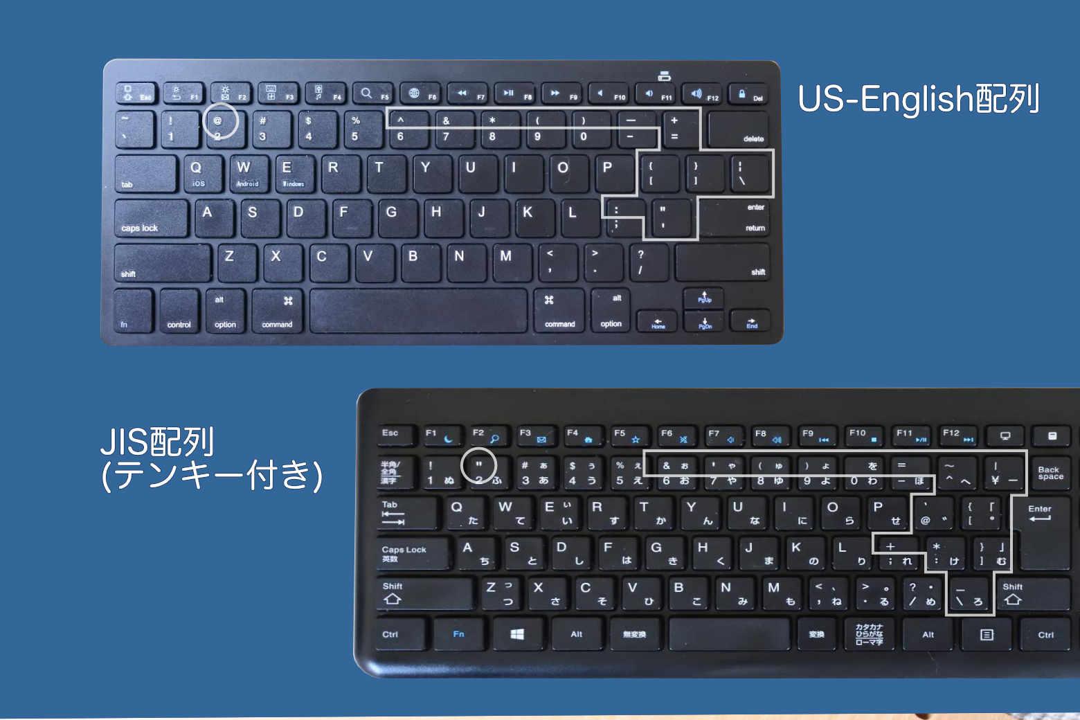 JETech Bluetooth ワイヤレスキーボード