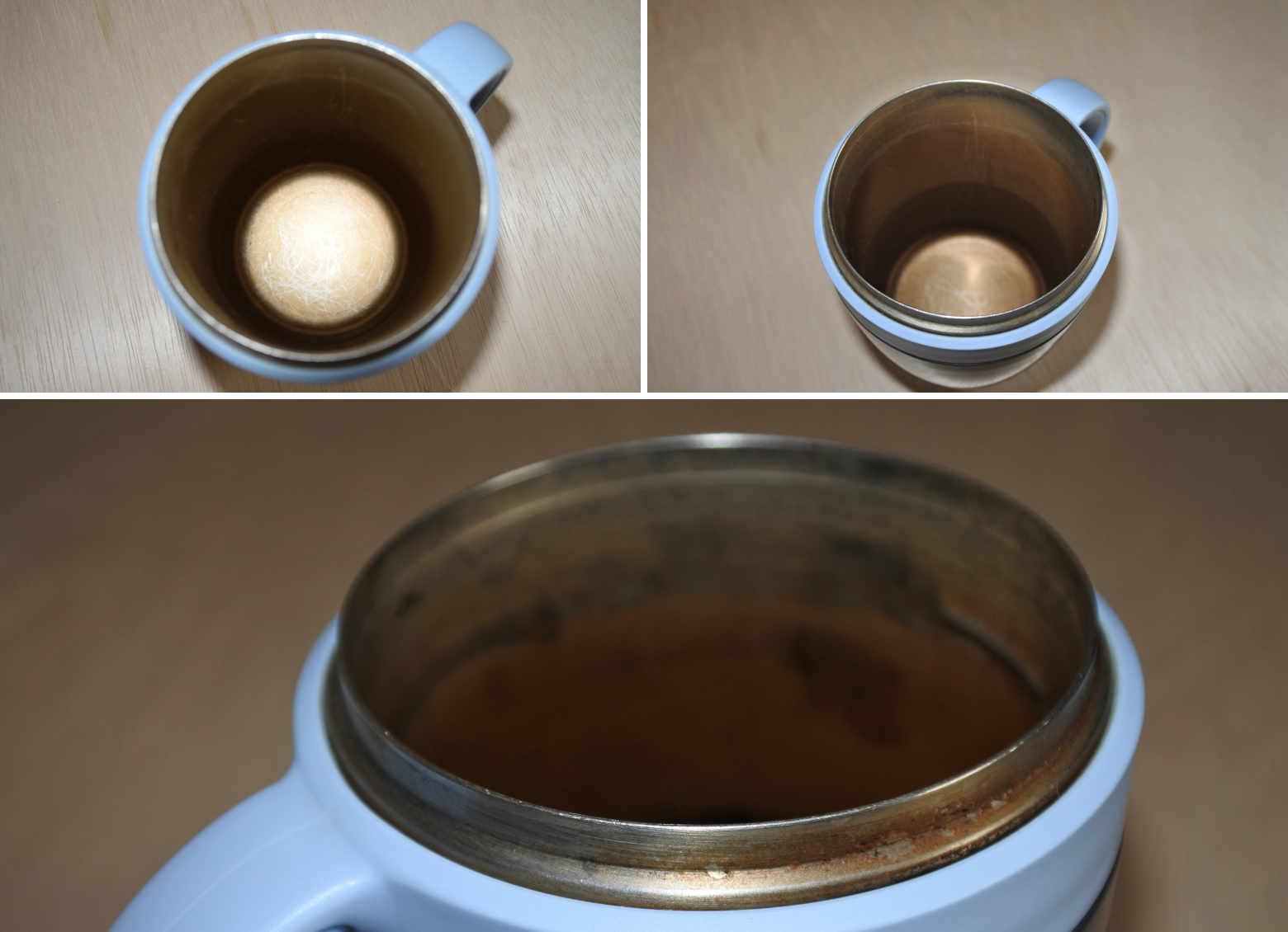 洗浄前のカップ