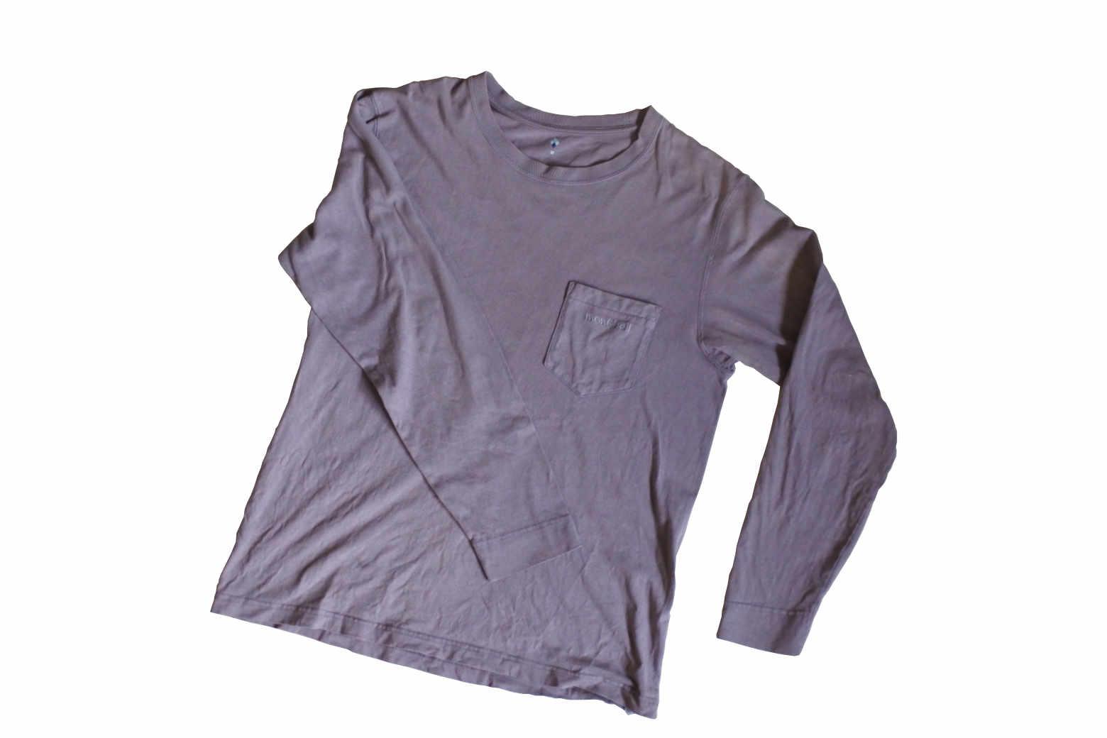 モンベルのウォッシュアウト ペアスキンコットンの長袖Tシャツ【インプレ】