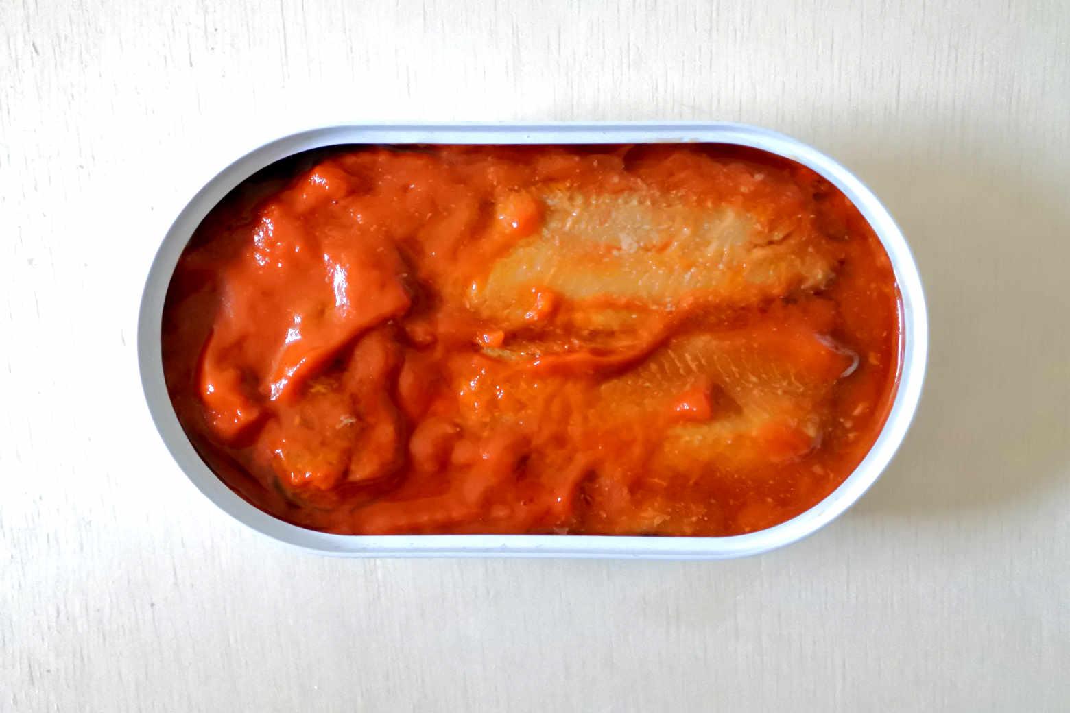 業務スーパーのニシンのトマトソース漬け