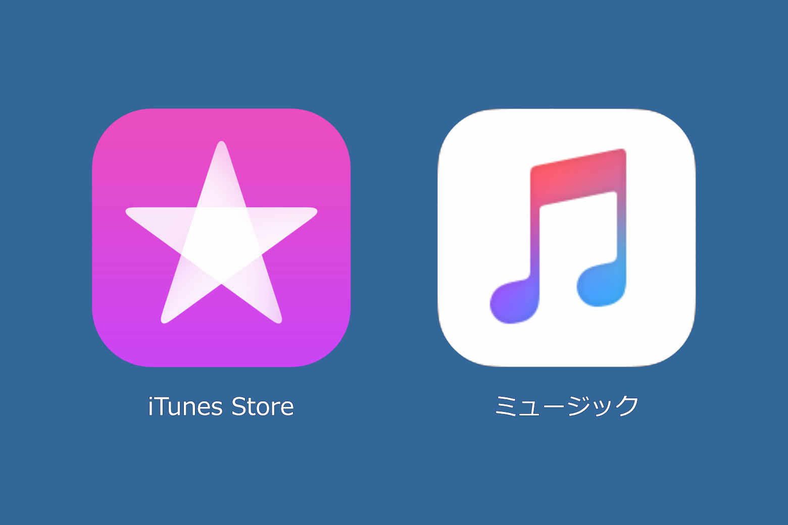 iTunes Storeとミュージックアプリ