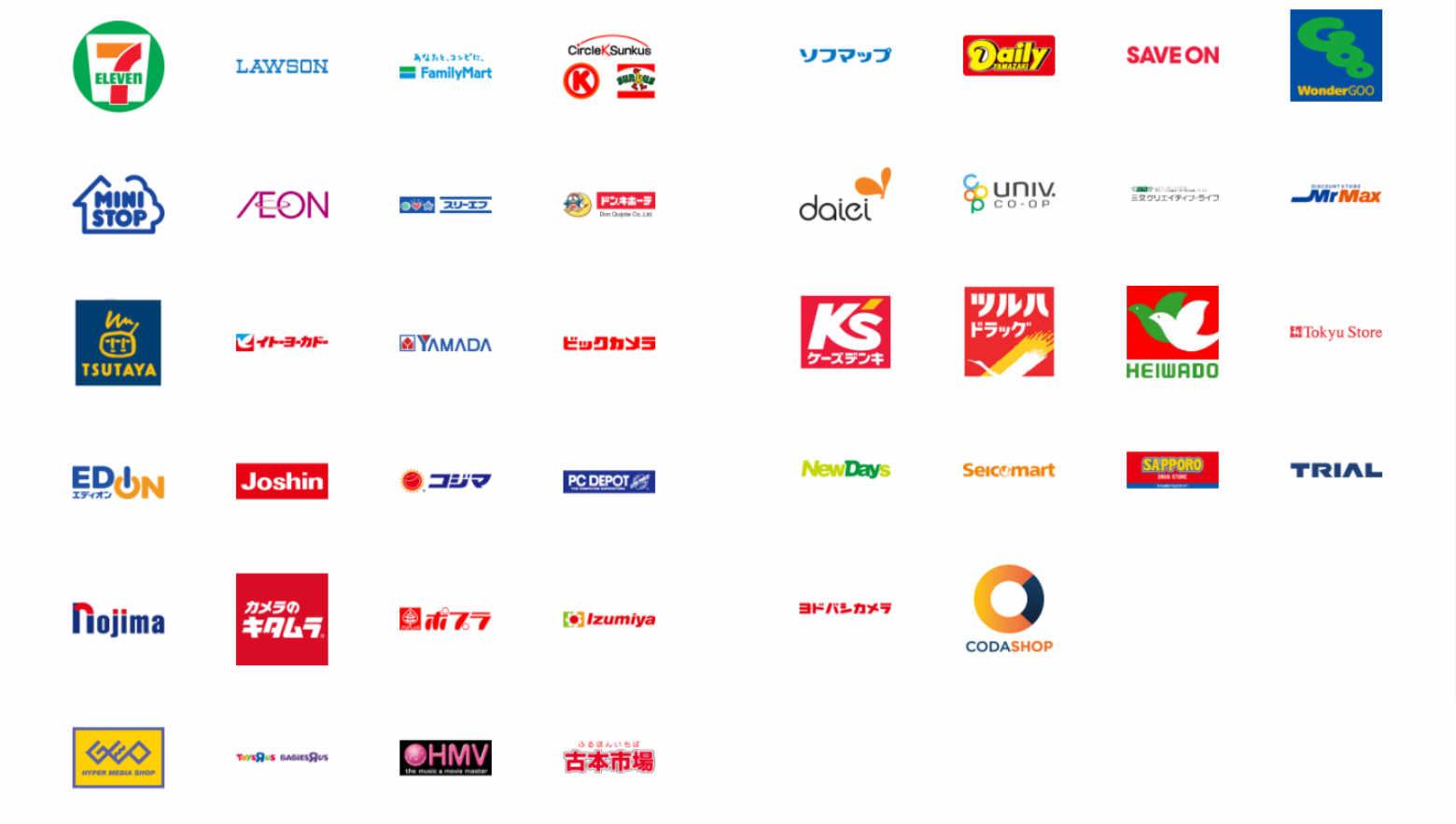 Googleプレイカードの購入店舗一覧