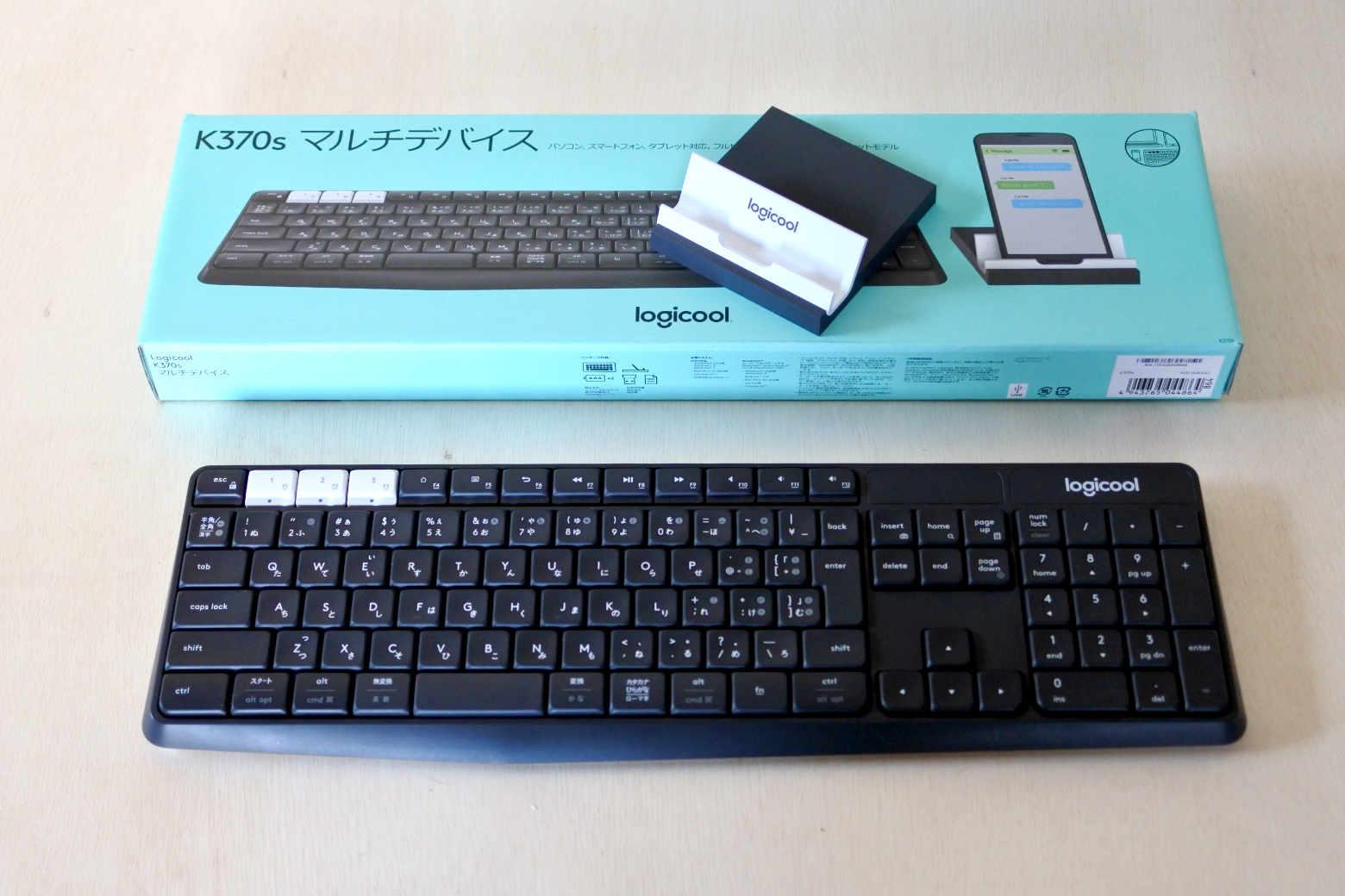 logicool『K370s』ワイアレスキーボード:1台でWindows・Mac・iPadProをつないで使っています【インプレ】