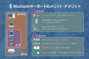 Bluetoothキーボードのメリット・デメリット