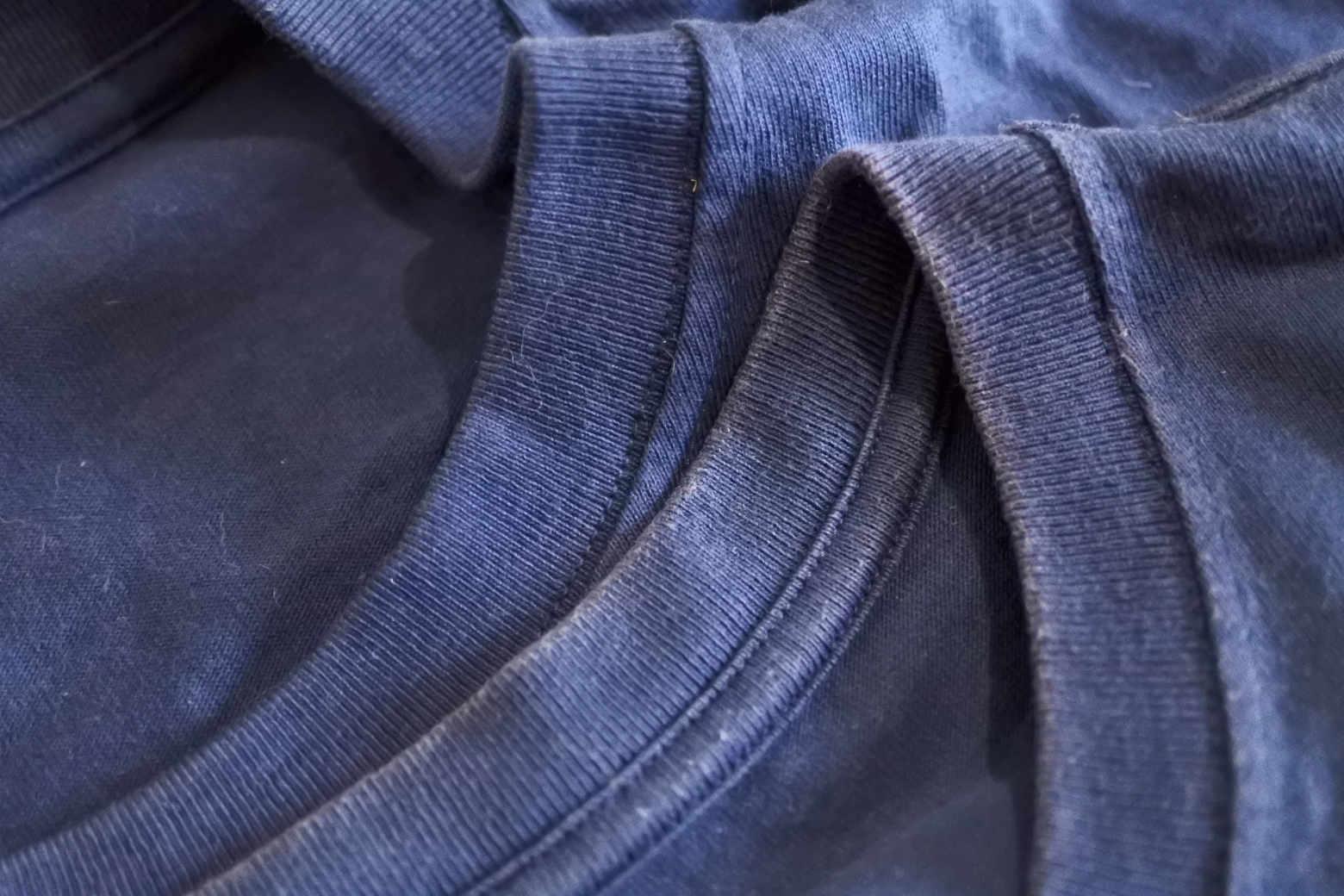 ペアスキンコットンTシャツの色落ち具合