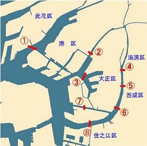 大阪市渡船場の地図