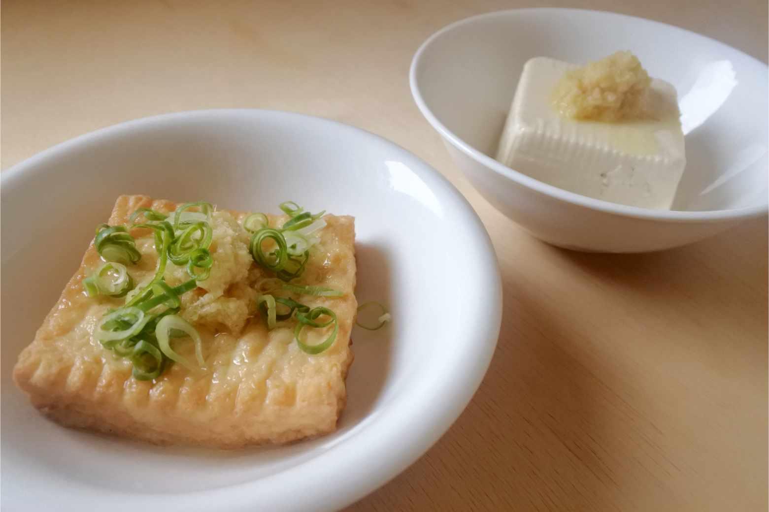豆腐に姜葱醤